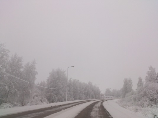 Begini kondisi jalan pada saat suhu -20 derajat